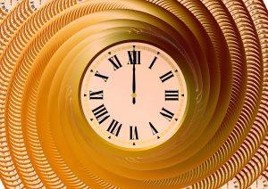 clock at center of spiral
