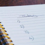 to-do list in notebook
