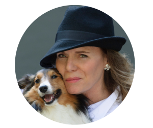 Linda Roggli with Dog