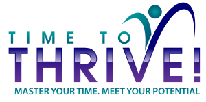 Time to Thrive 2020 Logo. Master Your Time. Meet Your Potential.